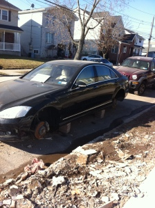 totaled car in Staten Island
