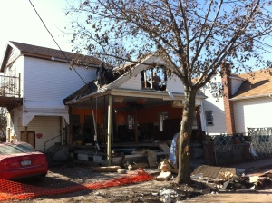 Staten Island damage from Sandy
