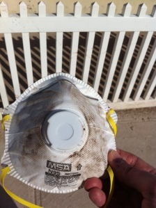 Staten Island damage from Sandy - respirator